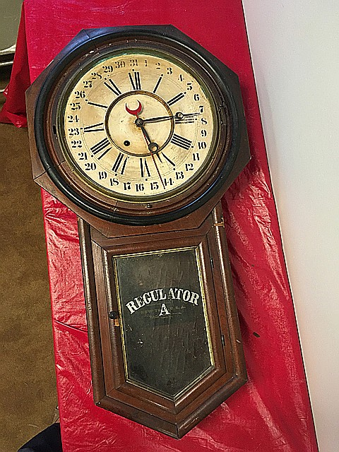 Ansonia Regulator A Calendar Wall Clock