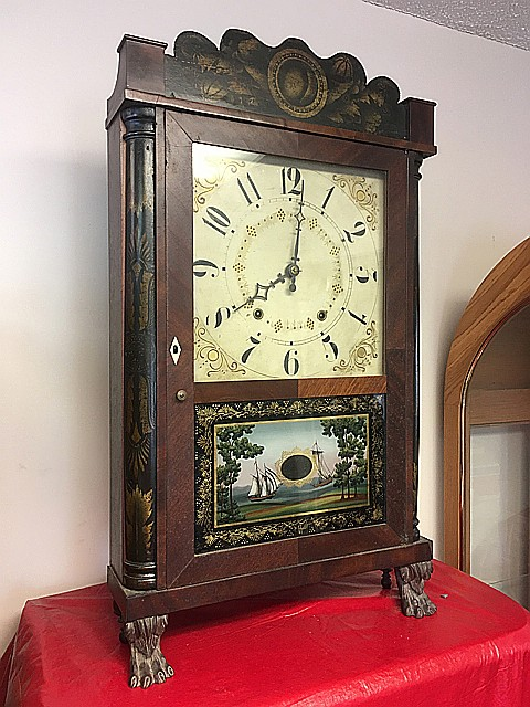E. Terry & Sons Column and Splat Shelf Clock