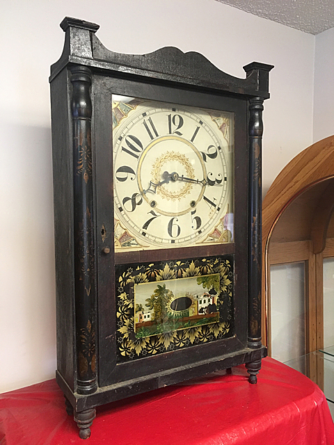 Ephraim Downs Column and Splat Clock