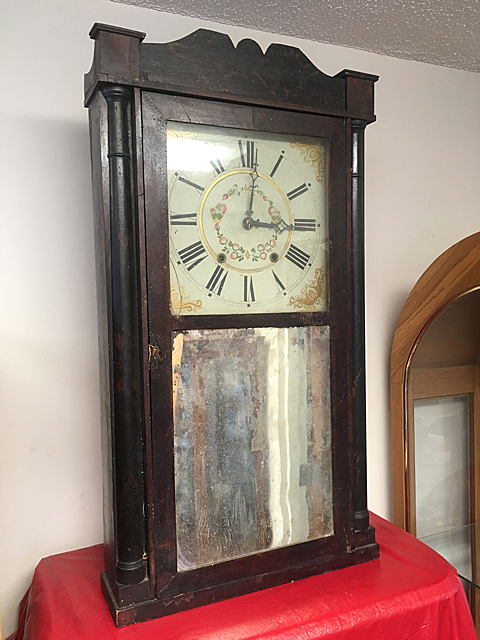 Henry Hart and Son Column and Splat Shelf Clock
