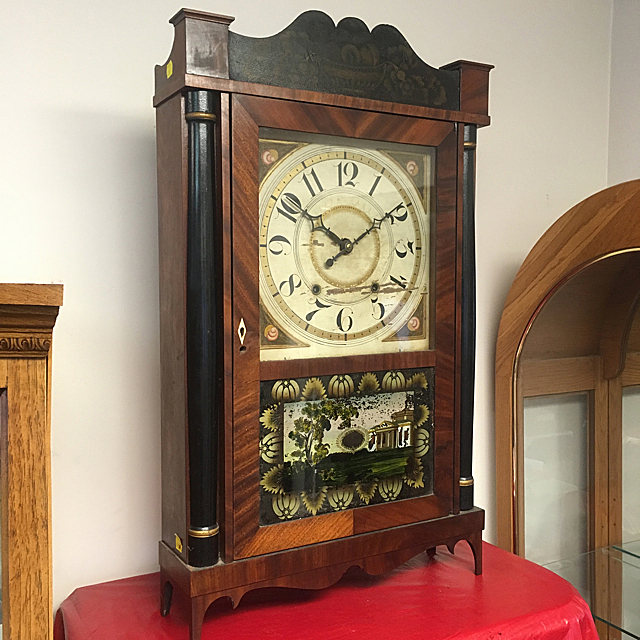 Silas Hoadley Transitional Shelf Clock