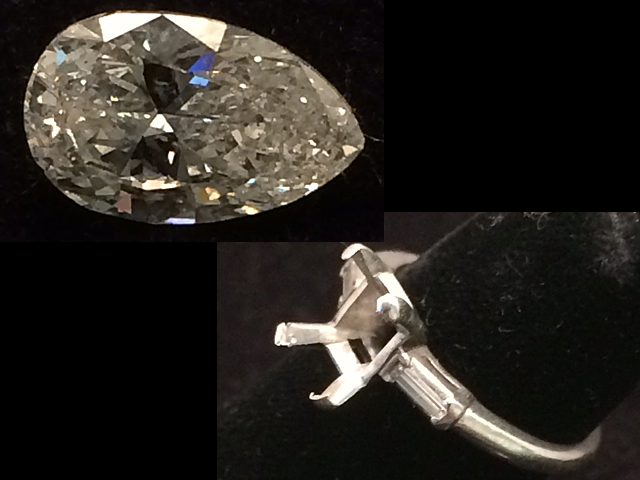 2.01 Carat Diamond & Platinum Setting