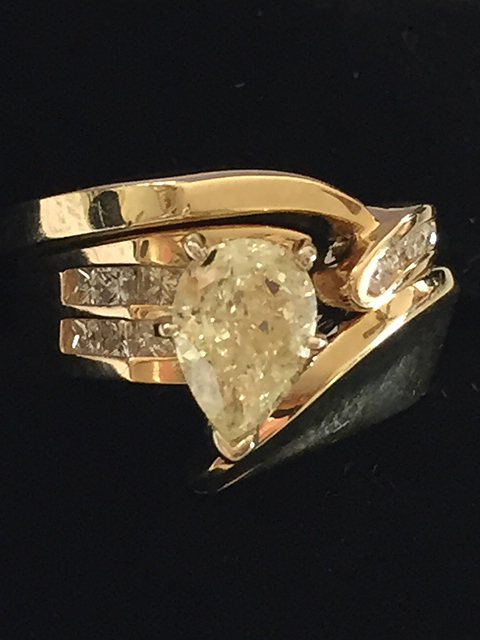 14kt Gold Ladies 1.12ct Canary Diamond Ring