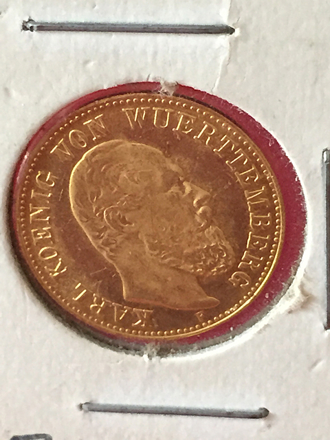 1877 German Gold 5 Marc
