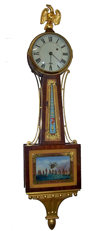 Weight Drive Antique Presentation Banjo Clock