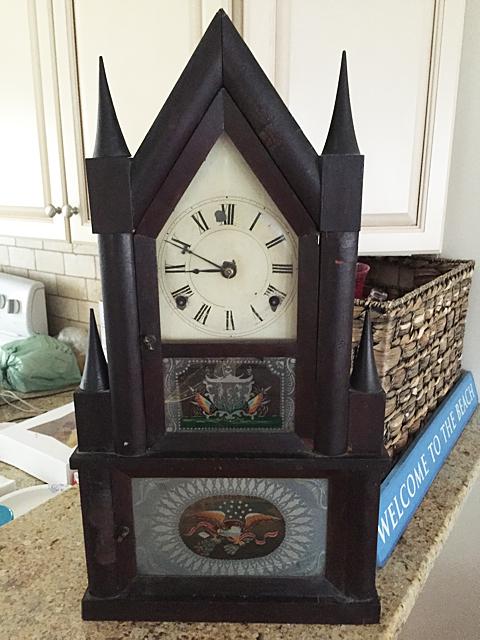 Elisha Manross Double Steeple Fusee Clock