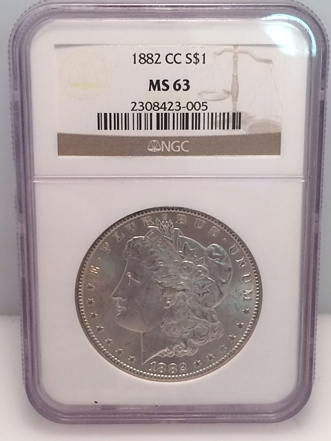 1882 CC Morgan Silver Dollar