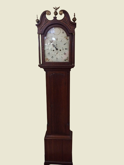 Oak English Grandfather Clock