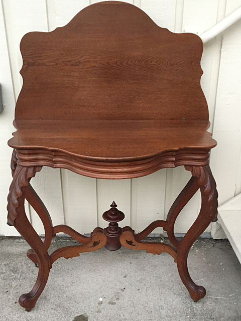 Victorian Walnut Game Table