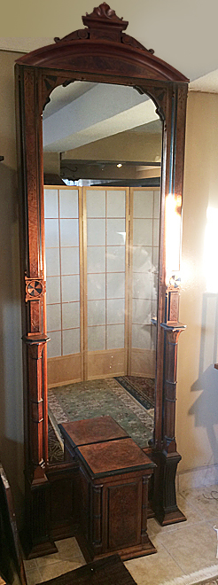 Antique Rennaisance Revival Pier Mirror