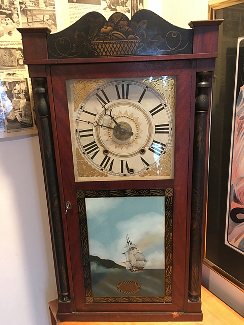 Williams, Orton, Prestons, & Co. Column and Splat Shelf Clock