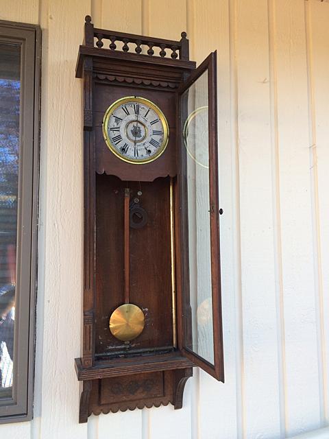 Walnut Regulator Clock