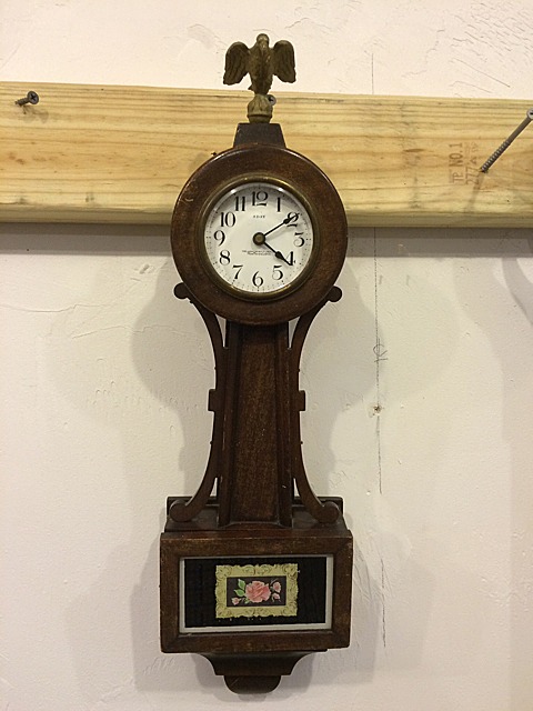 Miniature New Haven Clock Co. Banjo Clock