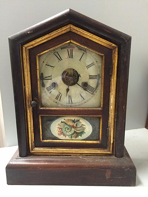 Rosewood Seth Thomas Shelf Clock