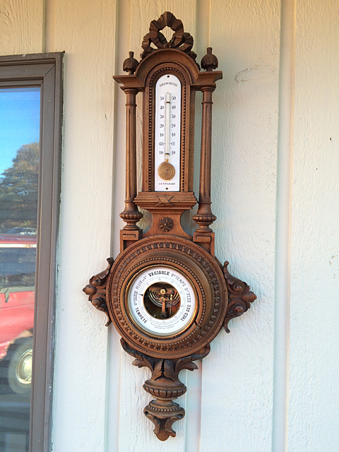 French Carved Antique Barometer