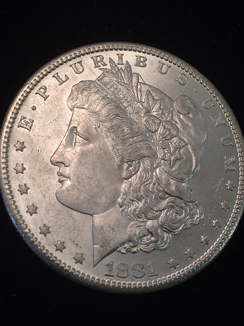 1881-S Morgan Silver Dollr
