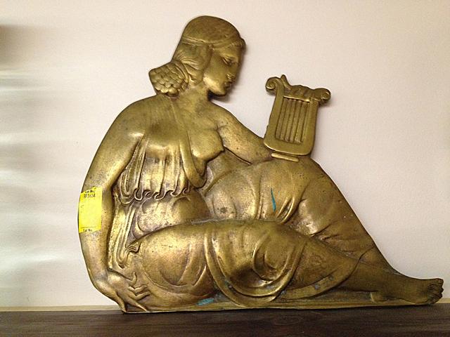 Antique Bronze Plaque