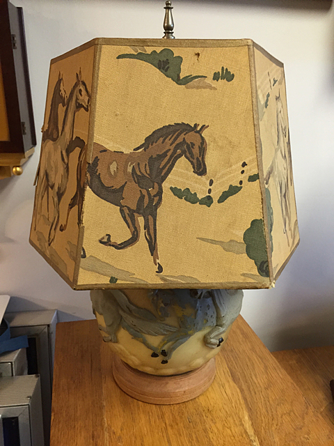 Glass Horse Design Lamp