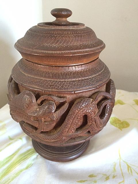 Walnut Carved Humidor