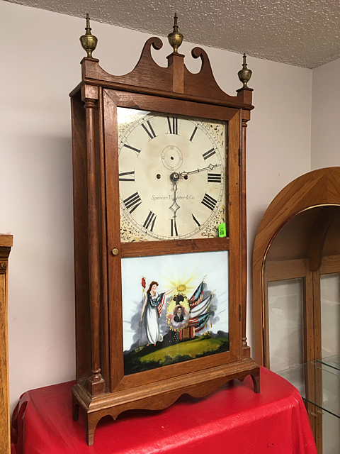 Spencer, Wooster & Co. Pillar and Scroll Clock