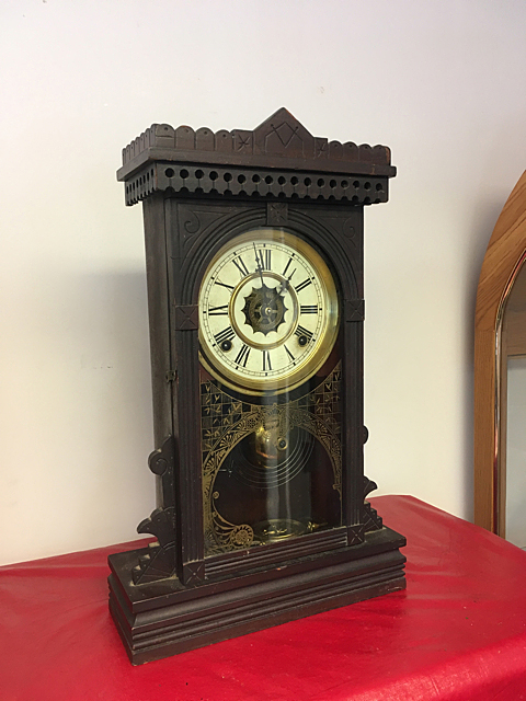 Eastlake Carved Mantel Clock