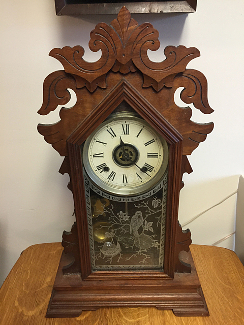 Ansonia Walnut Parlor Clock