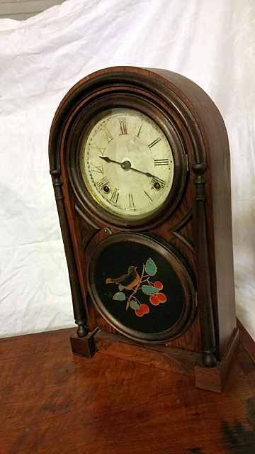 Atkins Rosewood Figure 8 Shelf Clock