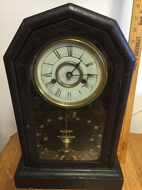 Rosewood Octogan Jerome Shelf Clock