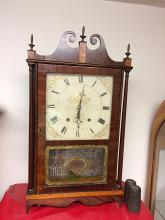 Early Eli Terry Pillar and Scroll Clock