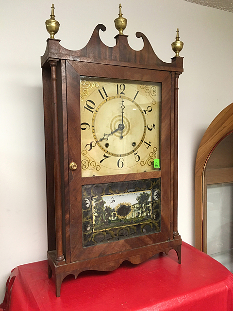 Silas Hoadley Pillar and Scroll Clock