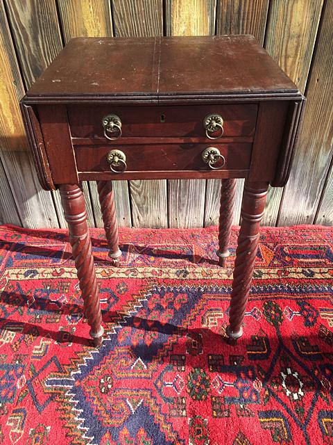 Mahogany Sheriton Work Table