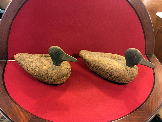 2 Early Cork Duck Decoys