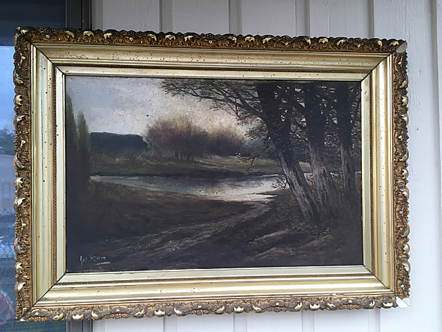 Antique Estate Signed Oil Painting