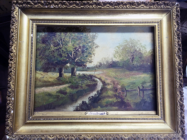 Antique Oil Painting, Signed James Purcell