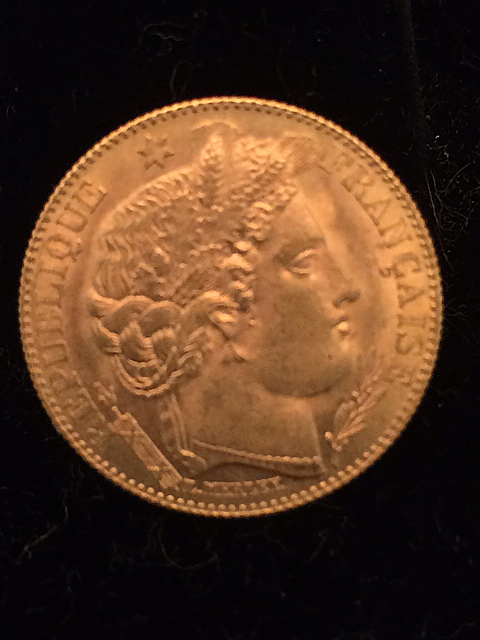 1899 10 Franc Gold Coin
