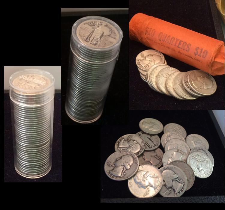 3 Rolls of Silver Quarters