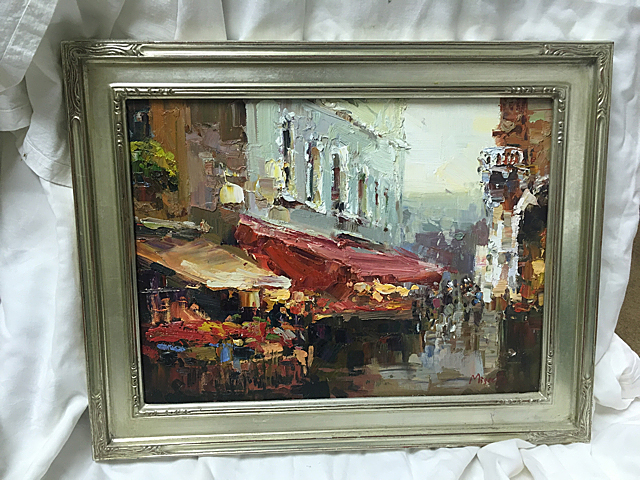 Signed Oil Painting, Miscelli