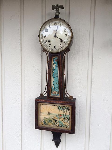 E. Ingraham Treasure Island Banjo Clock