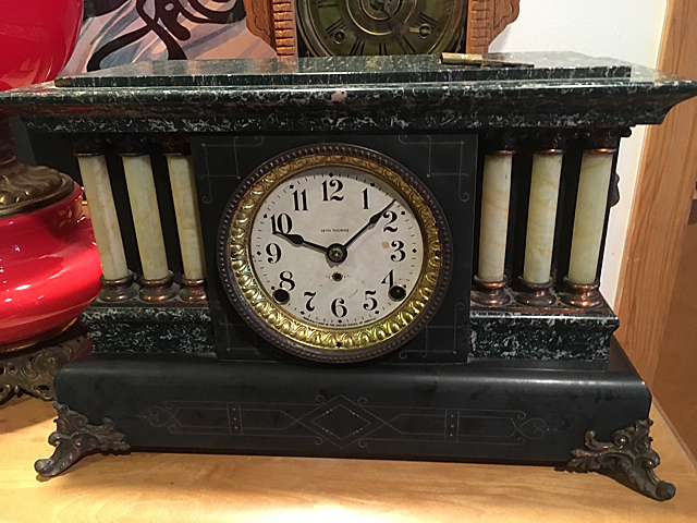 Seth Thomas Pillar Adamantine Shelf Clock
