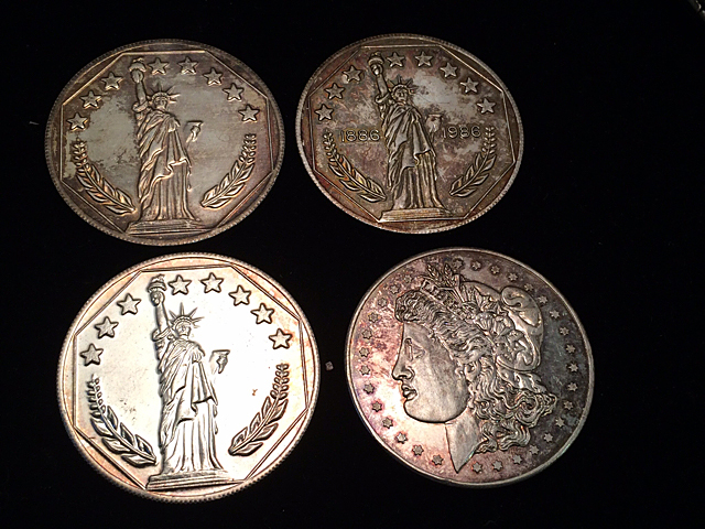4 Silver Commemorative Coins