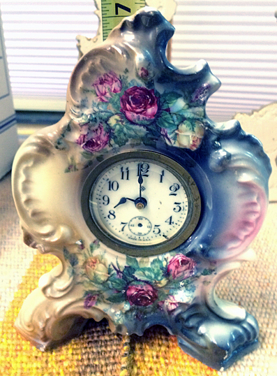 Ansonia Victorian Ladies Dresser Clock