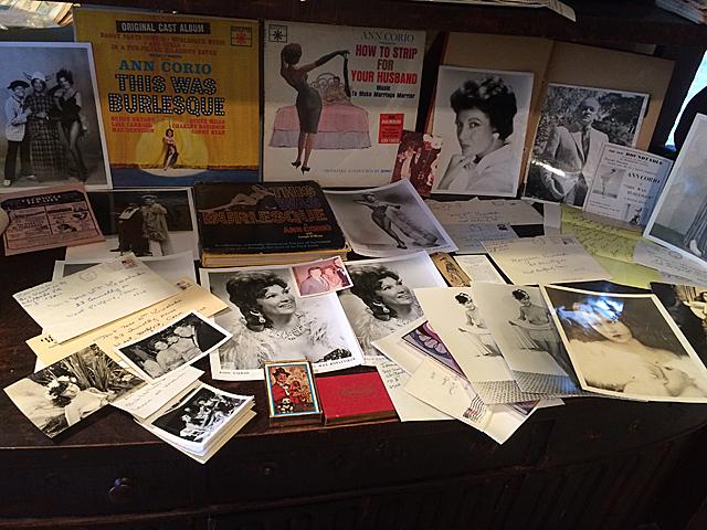 Ann Corio, Burlesque Memorabilia