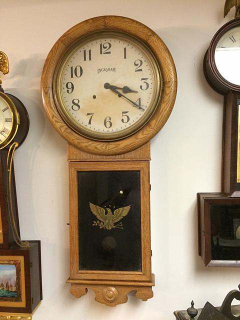 Ingraham Oak Regulator Clock