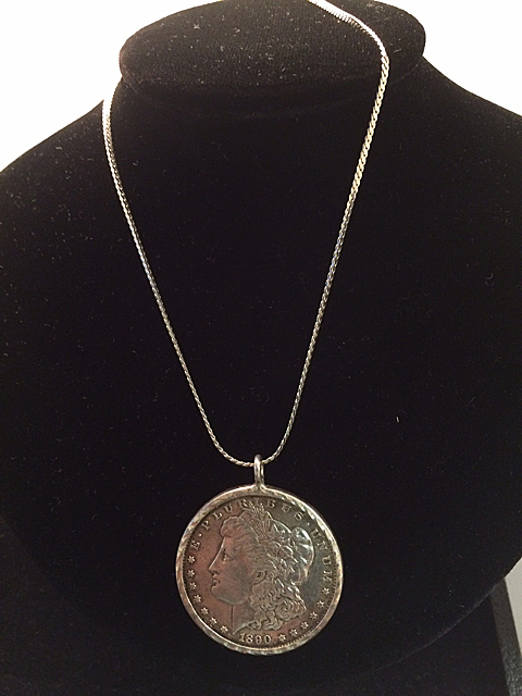 1890-S Morgan Silver Dollar Necklace
