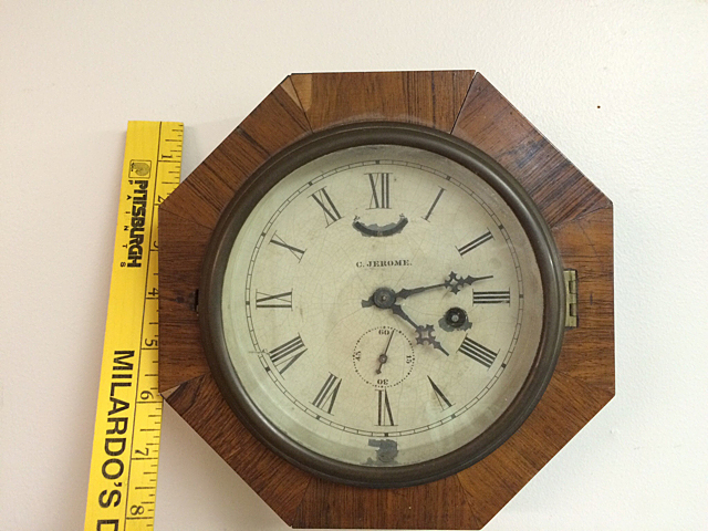 Rosewood C. Jerome Gallery Clock