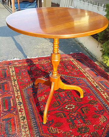 Cherry Tilt Top Candle Stand