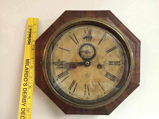 Rosewood Waterbury Clock Company Gallery Clock