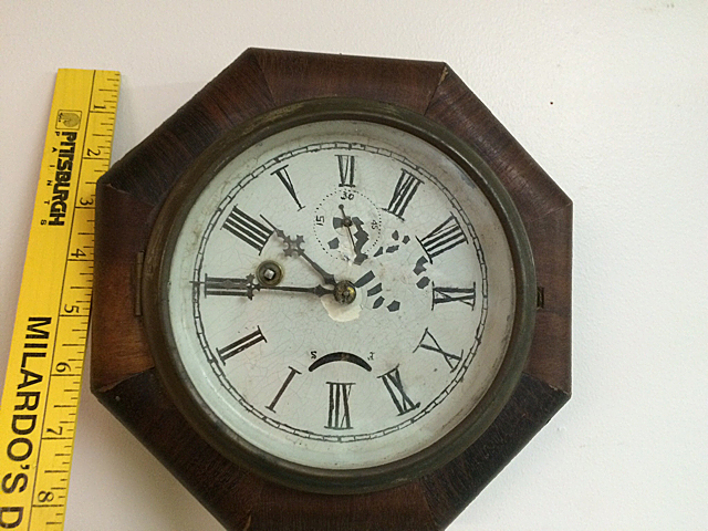 Rosewood Ansonia Gallery Clock