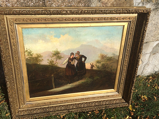 Antique Estate Oil Painting