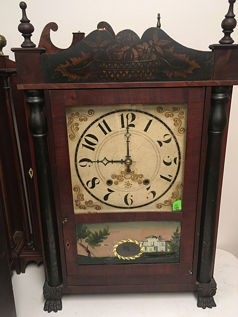 Antique Empire Stenciled Shelf Clock
